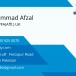 Workhopper profile page Afzal